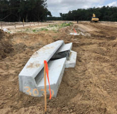 Ayers Road Extension (CR 576): drainage inlet Installation - June 2020