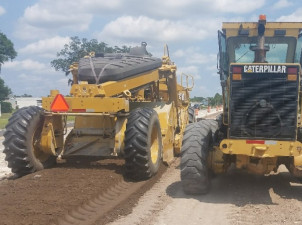 Mixing operation for Sam Allen Road widening as essential work continues (April 2020)