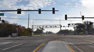 The rebuilt Sam Allen Road / Buchman Highway intersection is open ready to open to traffic