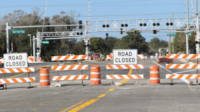 These barricades will be gone when the Sam Allen Road / Buchman Highway intersection reopens to traffic on January 17