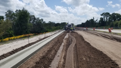 Sam Allen Rd Widening Project: late-July 2020