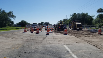 Essential roadwork continues on Sam Allen Road. Eastbound Sam Allen Road closed 4/27/20 at Paul Buchman Highway. (4/27/20 photo)