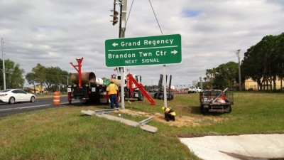 SR 60 (Adamo Drive) Reconstruction Project - Sign Installation Work