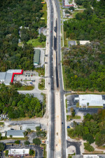The US 19 corridor is taking shape, shown hear north of Homosassa Trail (November 6, 2020 photo)