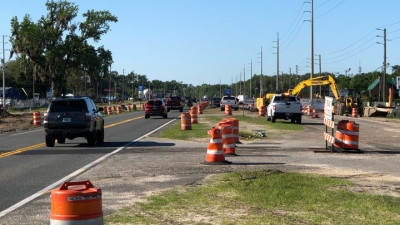 US 19 Widening from Jump Ct to Fort Island Trail Project - Drainage Installation - April 2020