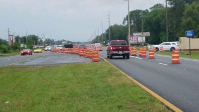 US 19 Widening from Jump Ct to Fort Island Trail - Traffic Shift Northend of Project - April 2020