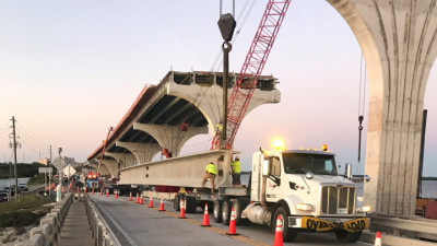 Pinellas Bayway Bridge Replacement Project - Delivery & Installation of Bridge Beams May 2020