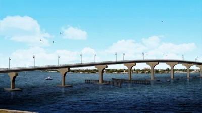 Artist Rendering of the New Bayway Bridge (SR 679) Structure E to Tierra Verde