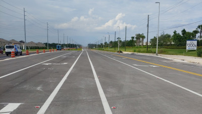 US 301 widening project - 19th Avenue looking north - August 2020