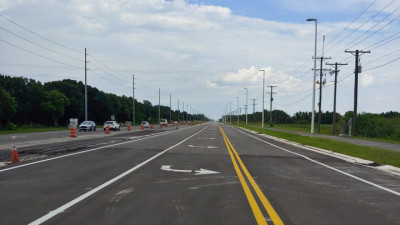 US 301 widening project - Cape Stone looking north - August 2020
