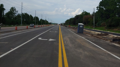 US 301 widening project - Valencia Lakes looking north - August 2020