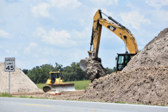 Work on US 301 south of SR 50 (7/17/20 photo)