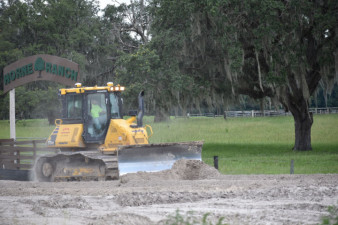 Earthwork on the south side of SR 50, east of US 301 (7/17/20 photo)