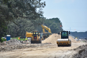 Work on  the south side of SR 50 (7/17/20 photo)