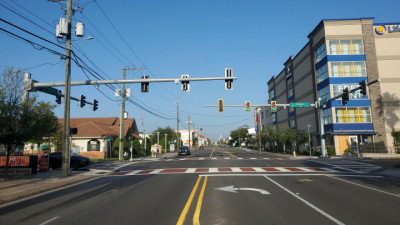 New Traffic Signal at Kennedy Boulevard and Rome Avenue - August 2020