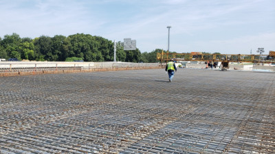 I-75 northbound over Woodberry Rd., preparing for deck pour - July 2020
