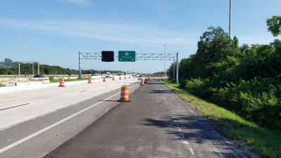 Northbound I-75 frontage road - September 2020
