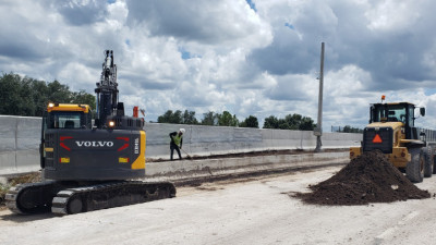 Widening of northbound lanes along I-75 - August 2020