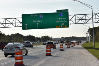 New exit point for southbound I-75 Exit 261 to I-4 is one mile north of previous exit