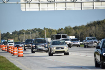 Southbound I-75 traffic exiting onto new ramp to I-4