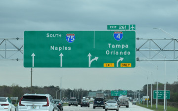 The new exit point to a 1.25 mile new ramp to I-4.