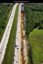Widening on the west side of I-75 for an extended exit ramp to I-4 that will be over a mile long. (March 2019 photo)