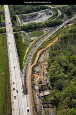 Widening southbound I-75 to create a two-lane exit ramp to I-4. (March 2019 photo)