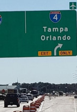 A new exit point to I-4 - one mile north of the current exit - opens Thursday, October 24