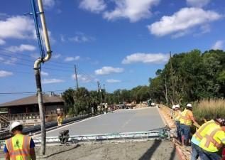 Halls River Bridge Concrete Deck Pour III May 2018