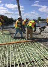 Halls River Bridge Concrete Deck Pour May 2018