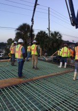 Halls River Bridge Concrete Deck Pour VI May 2018