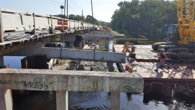 Halls River Bridge Removing Intermediate Bents August 2018