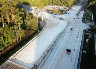 SR 50 Aerial View New Concrete Roadway April 2018