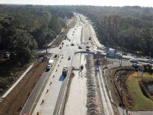 SR 50 Aerial View New Concrete Roadway January 2018