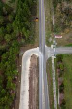 Looking north over Boyette Road at the new McKendree Road intersection that opened February 5, 2021 (2/15/2021 photo)