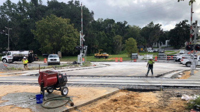 Jefferson Street RR Crossing Replacement Work August 2019