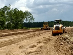 Roadway construction continues on the new SR 56 between Meadow Pointe Blvd in Wesley Chapel and US 301 in Zephyrhills.