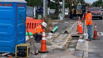 Trench Drain Installation along Southbound Gulf Blvd. --- January 2020