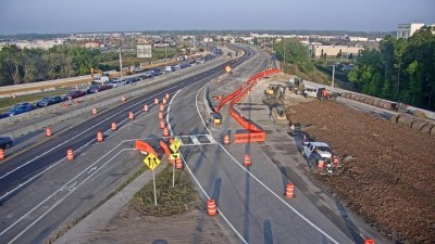 The free-flow right turn movement from the southbound I-75 exit ramp to westbound SR 56 has reopened (3/25/2021 photo)
