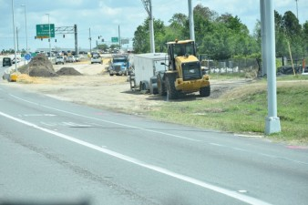 Building the new eastbound SR 56 entrance ramp onto southbound I-75 (3/31/2021 photo)
