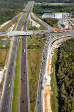 Looking north over I-75 at ramp construction at SR 56 (November 16, 2020 photo)