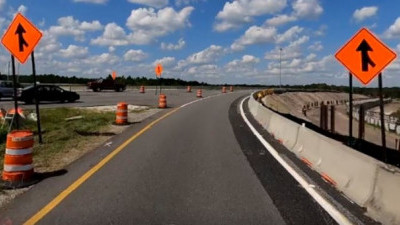 Work along the SR 56 entrance onto northbound I-75 (October 15, 2020 photo)