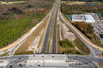 Looking north over SR 56 at the I-75 interchange (Dec. 13, 2020 photo)